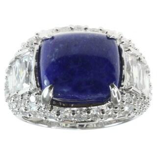 Michael Valitutti Lapis Cubic Zirconia Ring