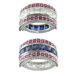 Michael Valitutti Sterling Silver Multi-stone Flip Ring