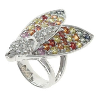 """Michael Valitutti Sterling Silver Multi Sapphire 'Wasp"""" Ring"""