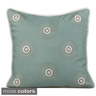 Dazzle Circles Feather/ Down 20-inch Throw Pillow