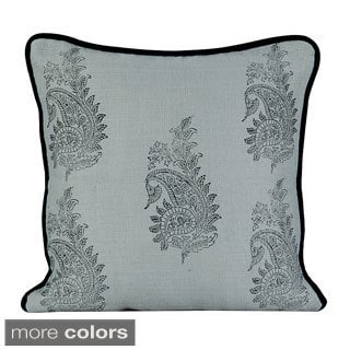 Paisley Feather/ Down 20-inch Throw Pillow