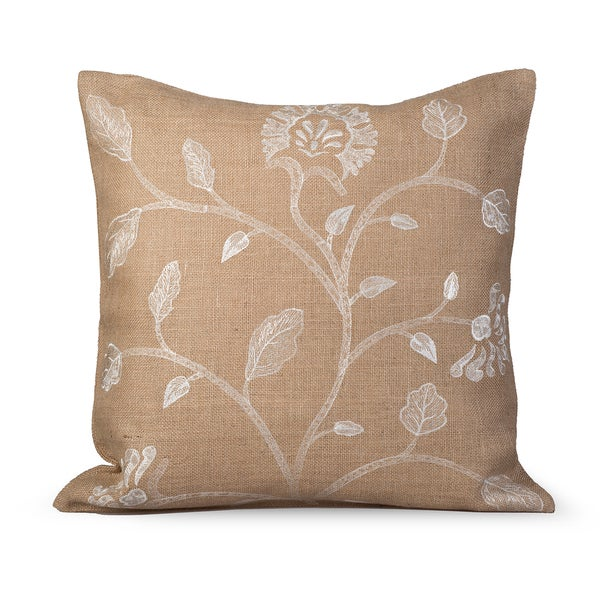 Foliage Feather/ Down 20-inch Throw Pillow