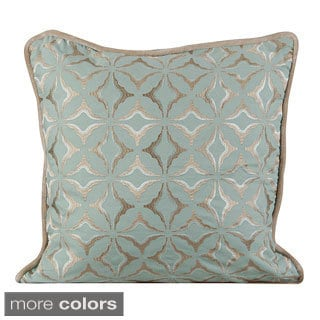 Frost Geometric Feather/ Down 20-inch Throw Pillow
