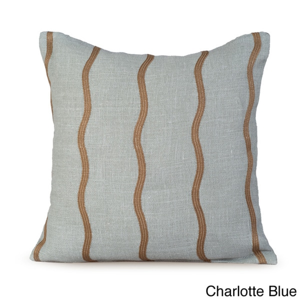Infinite Wavy Striped Feather/ Down 20-inch Throw Pillow