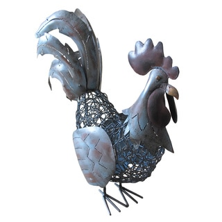 D-Art Small Antique Iron Rooster Lantern (Indonesia)