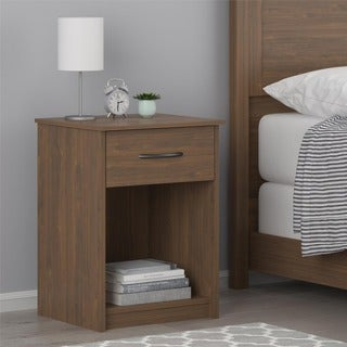 Saint Walnut Night Stand with Storage Drawer