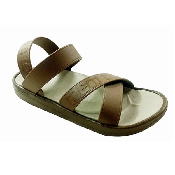 TOEOT Men's TA Brown Customizable Sandal