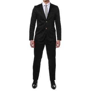 Zonettie by Ferrecci Men's Slim Fit 2-piece Cotton Suit