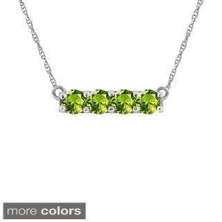 10k Gold Designer Round-cut Birthstone Necklace