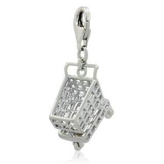 Gioelli Sterling Silver Shopping Cart Charm