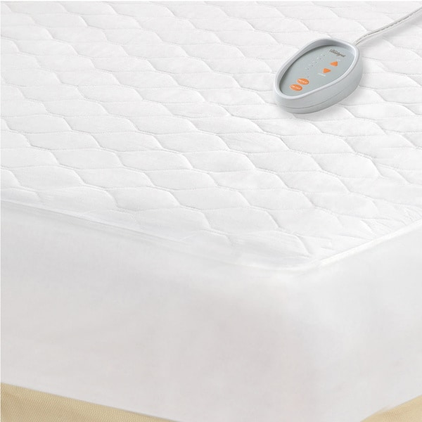 Beautyrest White Full-size Heated Electric Mattress Pad in (As Is Item)