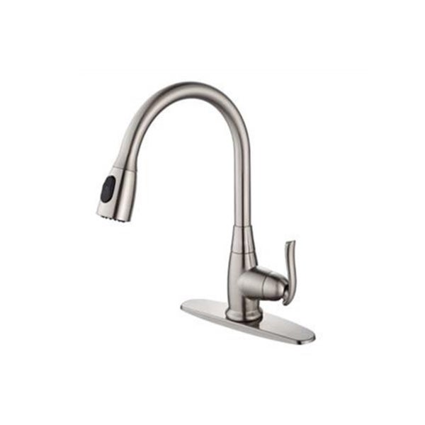 Kraus Single Lever Pull out kitchen Faucet in Satin Nickel (As Is Item) 14445080