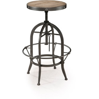 Magnussen Walton Wood Metal Swivel Stool