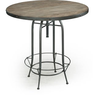 Indore round zinc dining table india overstock for Top rated dining tables