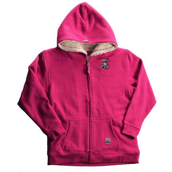 Case IH Girls' Pink Sherpa Lined Hoodie