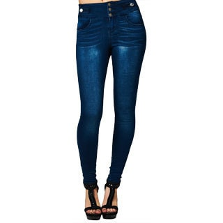 Junior's High Waisted Navy Twill Skinny Jeans