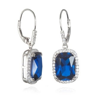 Stainless Steel Cubic Zirconia Synthetic Spinel Earrings