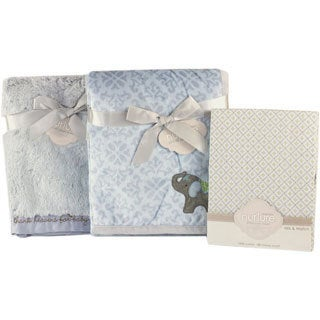 Nurture Elephant Jubilee Baby Blanket and Crib Sheet Bundle