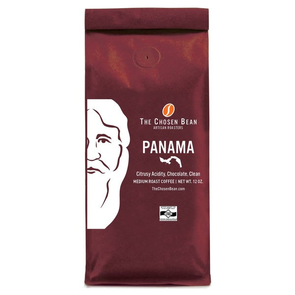 The Chosen Bean Panama Medium Roast Gourmet Whole Bean Coffee