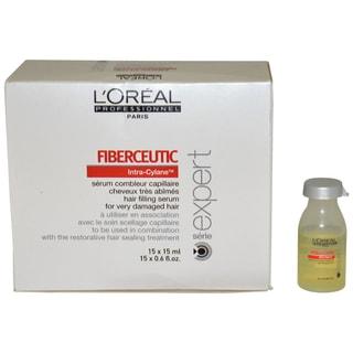 L'Oreal Professional Serie Expert Fiberceutic 0.6-ounce Hair Filling Serum (Pack of 15)
