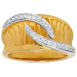 Boston Bay Diamonds 14k Two-tone Gold 1/6ct TDW Diamond Fashion Ring (I-J, I1-I2)