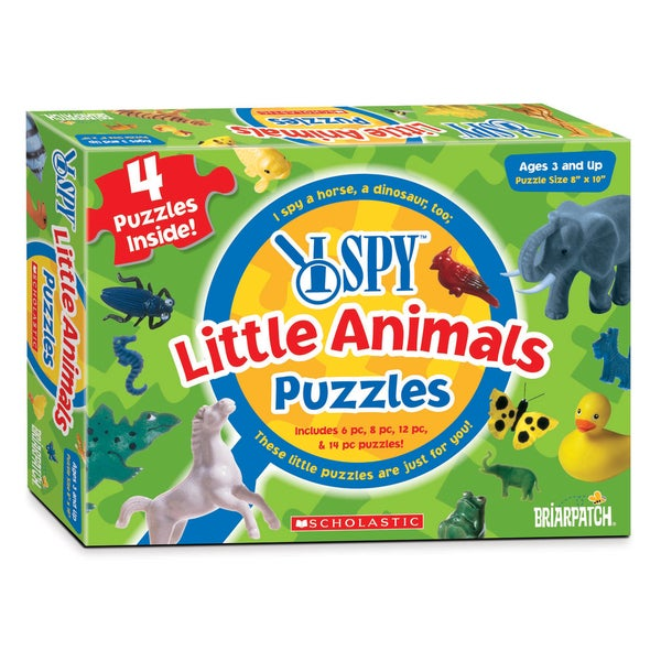 I Spy Little Animals 4-in-1 14-piece Puzzle
