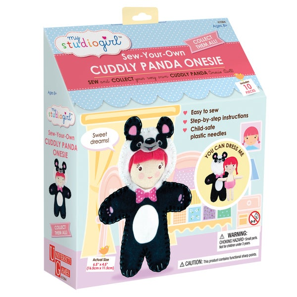 My Studio Girl Sew-Your-Own Cuddly Panda Bodysuit