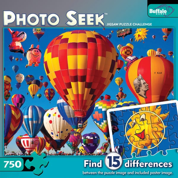Photo Seek Hot Air Balloons Jigsaw Challenge 750-piece Puzzle