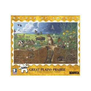 USPS Nature America Great Plains Prairie Stamp Collection 500-piece Puzzle