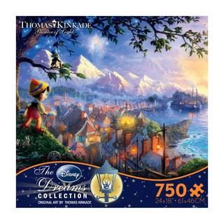 Thomas Kinkade Disney Dreams Pinocchio Wishes Upon a Star 750-piece Puzzle