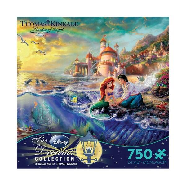Thomas Kinkade Disney Dreams The Little Mermaid 750-piece Puzzle