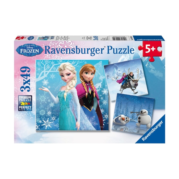 Disney Frozen WInter Adventures 49-piece Puzzle (Pack of 3)