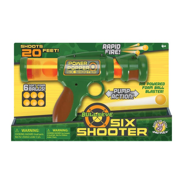 BullsEye Six Shooter Foam Ball Blaster