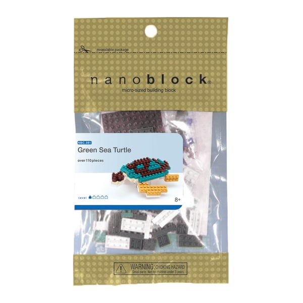 nanoblock Animals Level 1 Green Sea Turtle 110-piece Set