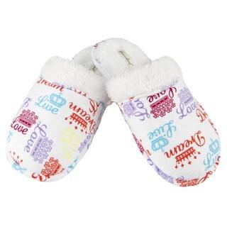 Leisureland Women's Crown of Love Cotton Flannel Slippers