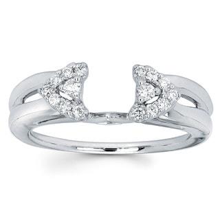 14k White Gold 1/5ct TDW Diamond Ring Wrap (I-J, I1-I2)
