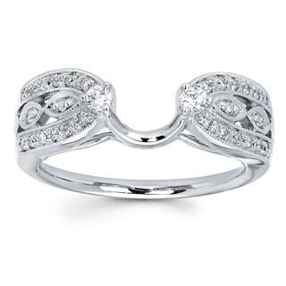 14k White Gold 1/4ct TDW Diamond Ring Wrap (I-J, I1-I2)