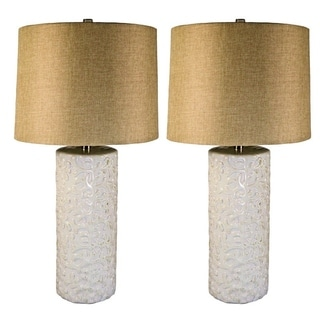 JT Lighting Ceramic Table Lamps (Set of 2)