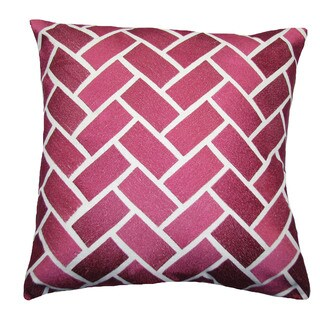 Pink Bricks Decorative Feather Filled 20-inch Throw Pillow