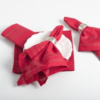 Iridescent Design Plaid Napkins (set of 4)