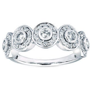 14k White Gold 5/8ct TDW Diamond Circle Fashion Ring (I-J, I1-I2)