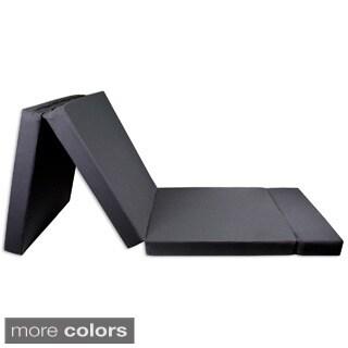 Trifold Shikibuton High-Density Foam Bed/Mat, Fold-in Headrest