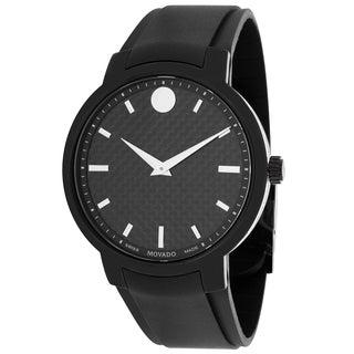 Movado Men's 0606849 Gravity Round Black Strap Watch