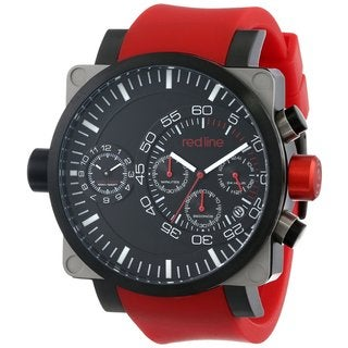 Red Line Men's RL-50048-SS-BB-01-RD Dual Timer Black Watch