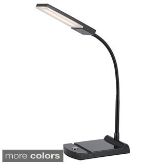 Cal Lighting LED 12-watt Gooseneck Touch Sensor Base Desk Lamp