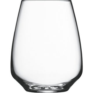 Luigi Bormioli Atelier 14-ounce Crystal Riesling Stemless Glasses (Set of 6)