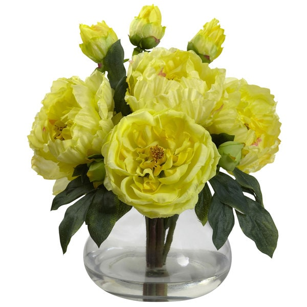 Peony and Rose Arrangement with Vase