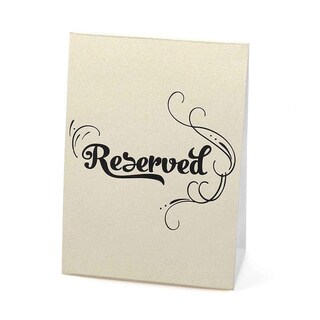 Hortense B. Hewitt Reserved Table Tents (Pack of 10)