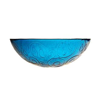 French Home 12-inch Cornflower Blue Glass Serving Bowl
