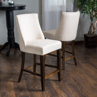 Christopher Knight Home Harman Fabric Counter Stool (Set of 2)